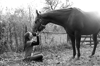 woman-with-horse-(BW)